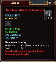 Dauntless Gladiator's Gauntlets
