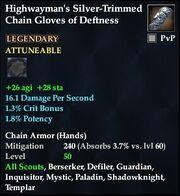 Highwayman's Silver-Trimmed Chain Gloves of Deftness