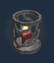 Pristine ornate cobalt table lamp (Visible)