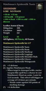 Watchman's Spidersilk Tunic