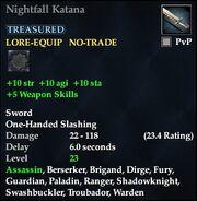 Nightfall Katana