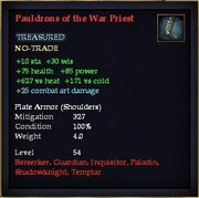 Pauldrons of the War Priest