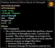 Pristine Imbued Silver Band of Strength