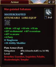 War-painted Sabatons