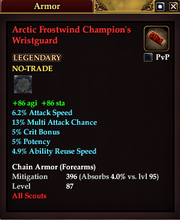 Arctic Frostwind Champion's Wristguard