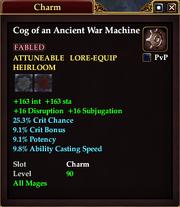 Cog of an Ancient War Machine