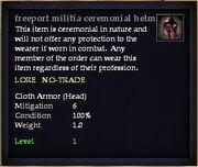 Freeport militia ceremonial helm