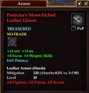 Protector's Moon Etched Leather Gloves
