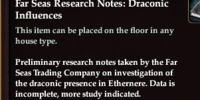 Far Seas Research Notes: Draconic Influences