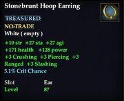 Stonebrunt Hoop Earring