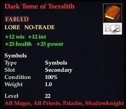 Dark Tome of Tseralith