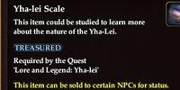 Yha-lei Scale