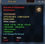 Bracelet of Elemental Dominance