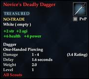 Novice's Deadly Dagger