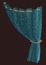 Flowered-teal-velevet-curtain-right