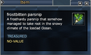 Frostbitten parsnip