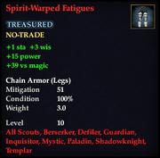 Spirit-Warped Fatigues