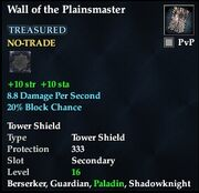 Wall of the Plainsmaster