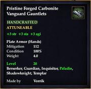 Carbonite Vanguard Gauntlets