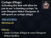 Cyclops (Dirge)