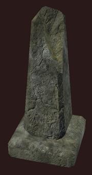 Damaged Obelisk Gravestone (Visible)