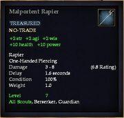 Malportent Rapier