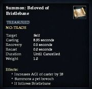 Summon- Beloved of Bristlebane