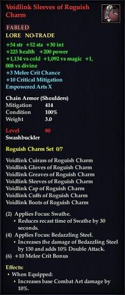 Voidlink Sleeves of Roguish Charm