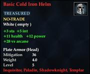 Basic Cold Iron Helm