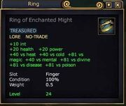 Ring of Enchanted Might