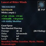 Lancet of Bitter Winds