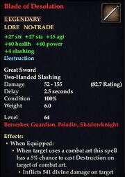 Blade of Desolation