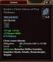 Raider's Chain Gloves of Pure Darkness
