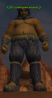 A sand giant assassin