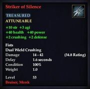 Striker of Silence