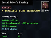 Portal Scion's Earring