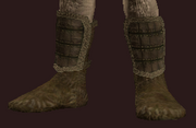 Woven Tanned Leather Boots (Equipped)