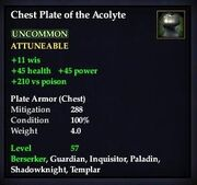 Chest Plate of the Acolyte