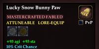 Lucky Snow Bunny Paw