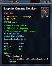 Sapphire Gemmed Necklace