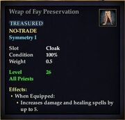 Wrap of Fay Preservation
