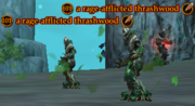 A rage-afflicted thrashwood