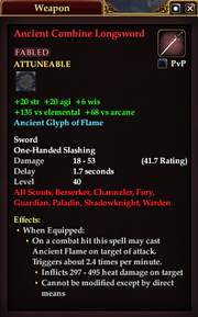 Ancient Combine Longsword