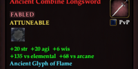 Ancient Combine Longsword