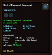 Staff of Elemental Command (80)