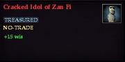 Cracked Idol of Zan Fi