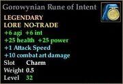 Gorowynian Rune of Intent