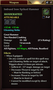 Imbued Iron Spiked Hammer