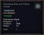 Flowering Pink and Yellow Circlet