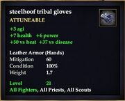 Steelhoof tribal gloves